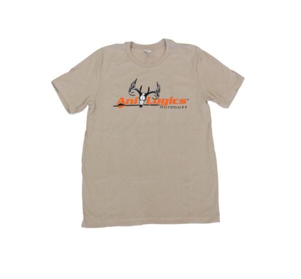 ani-logics tan t-shirt