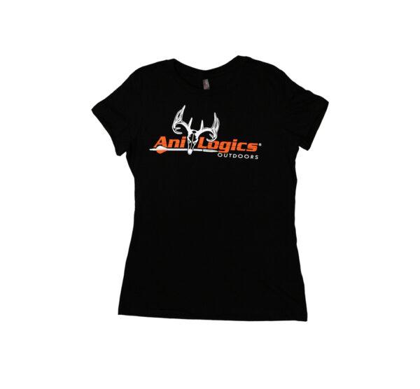 ani-logics womens black t-shirt