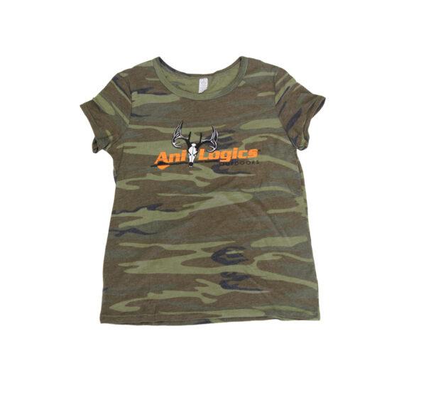 ani-logics womens camo tshirt