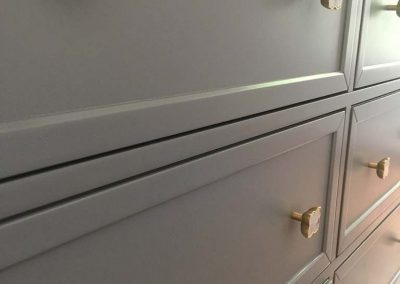 chest of drawers with hardware