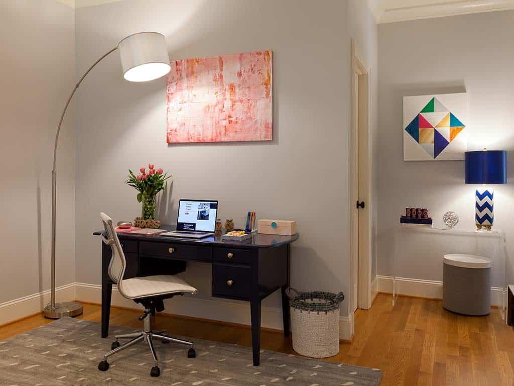 refinished.desk. modern.home.office. design