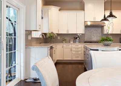 Transitional grey Kitchen