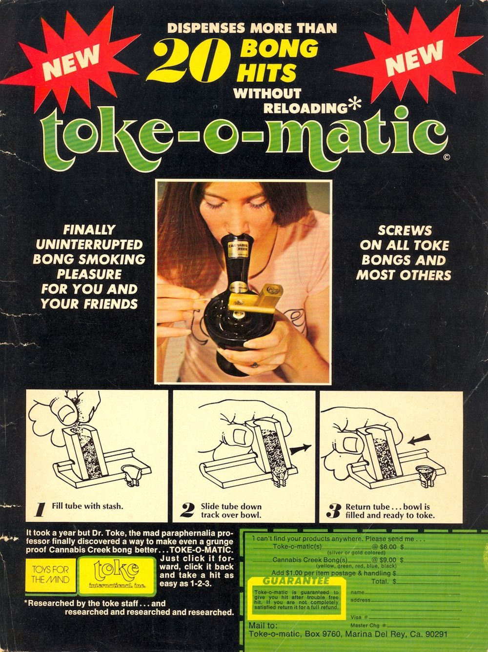 toke o matic funny old weed magazine advertisement