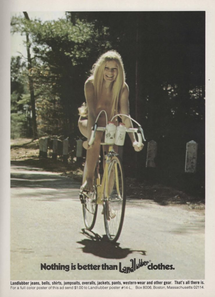 hippie on a bike classic hippie ad 1970s