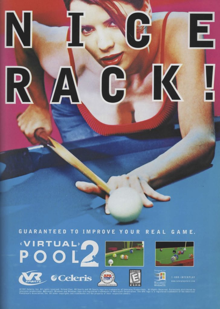 nice rack 1990s video game ad virtual pool 2