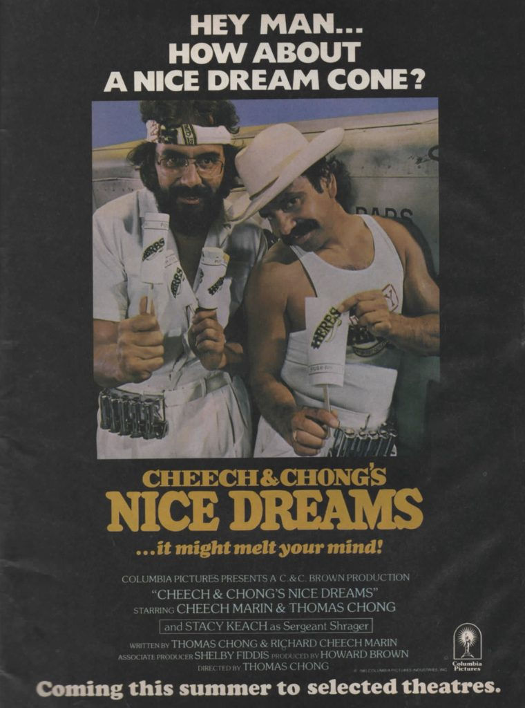 nice dreams poster cheech and chong