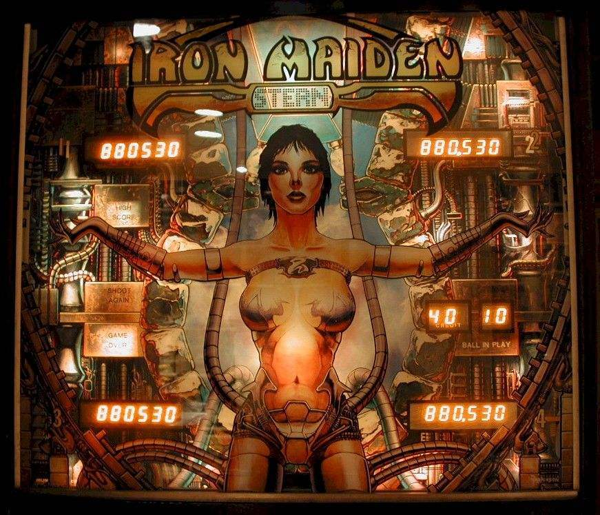 iron maiden pinball by stern