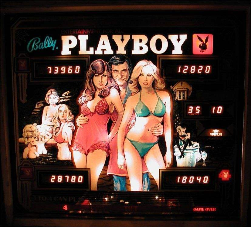 playboy pinball backglass