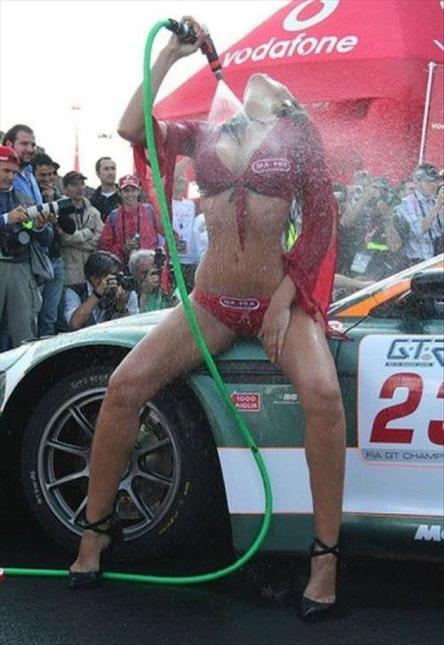 incredible italian in red hosing herself