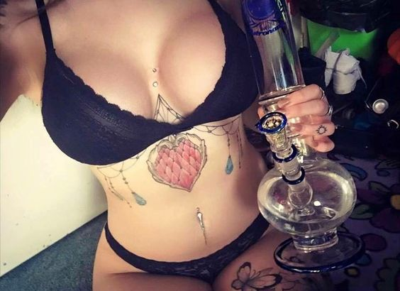 busty bong hits tattoos