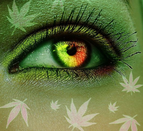 weed art cannabis eyes