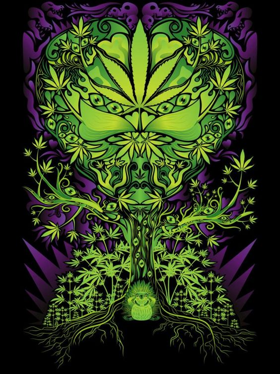 tree of life and weed