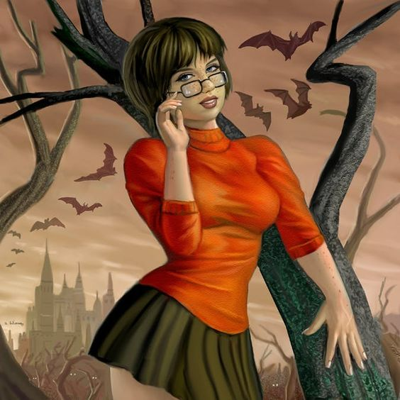 velma drawing painting hot sexy scooby doo