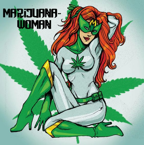 marijuana woman funny art