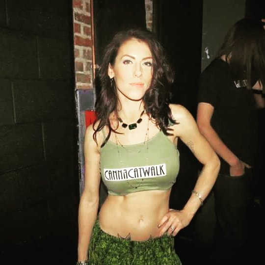 weed girl green halter top 420