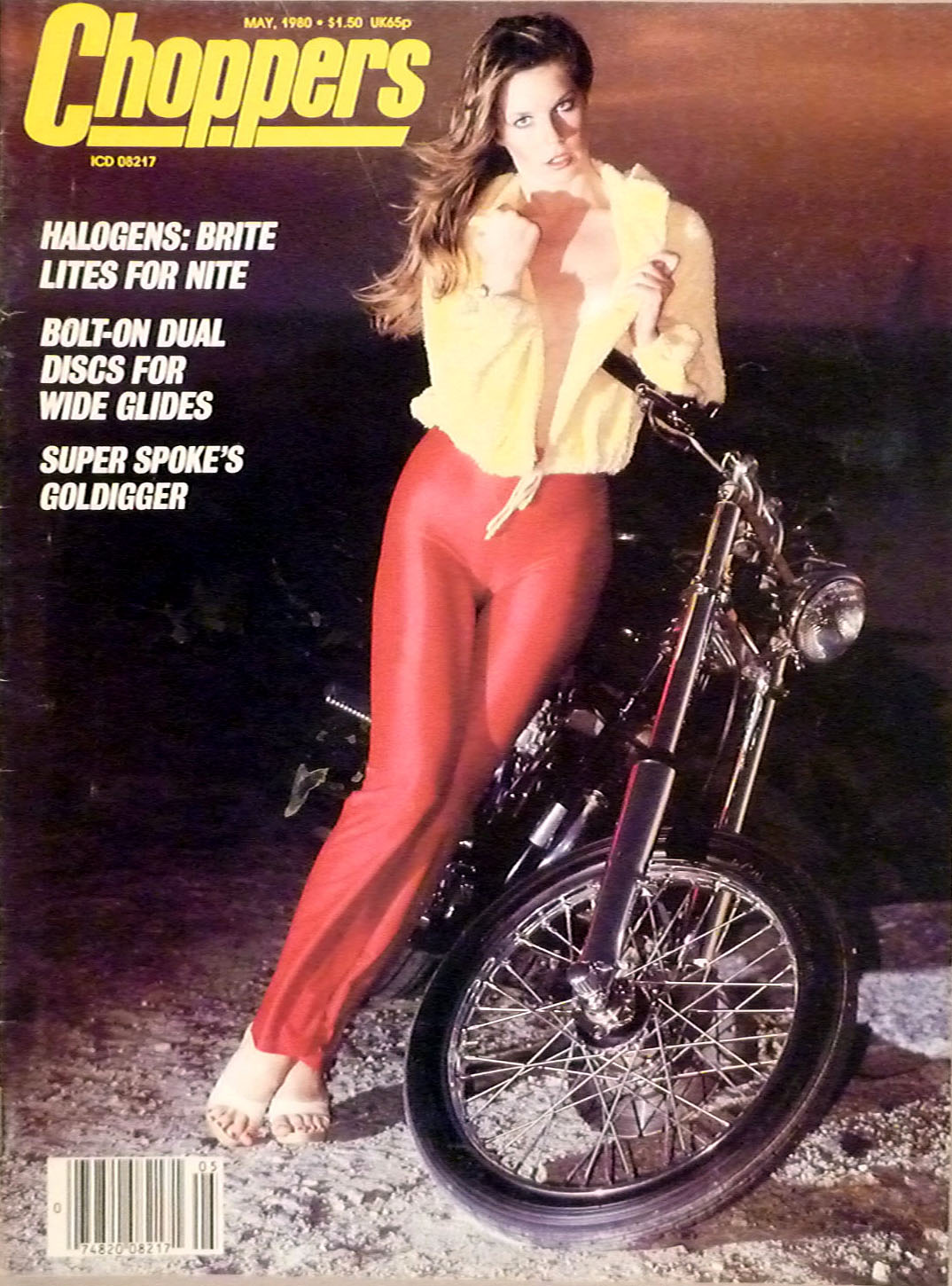choppers magazine cover 1980 red leather pants