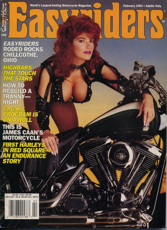 redhead biker babe easyriders cover 1993