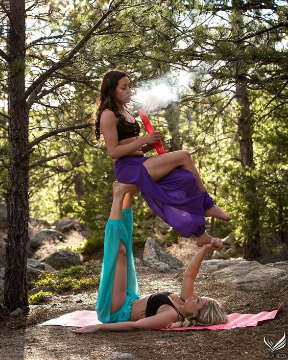 crazy yoga bong girls
