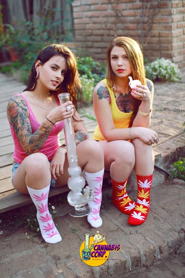 two stoner chicks chilling weed socks