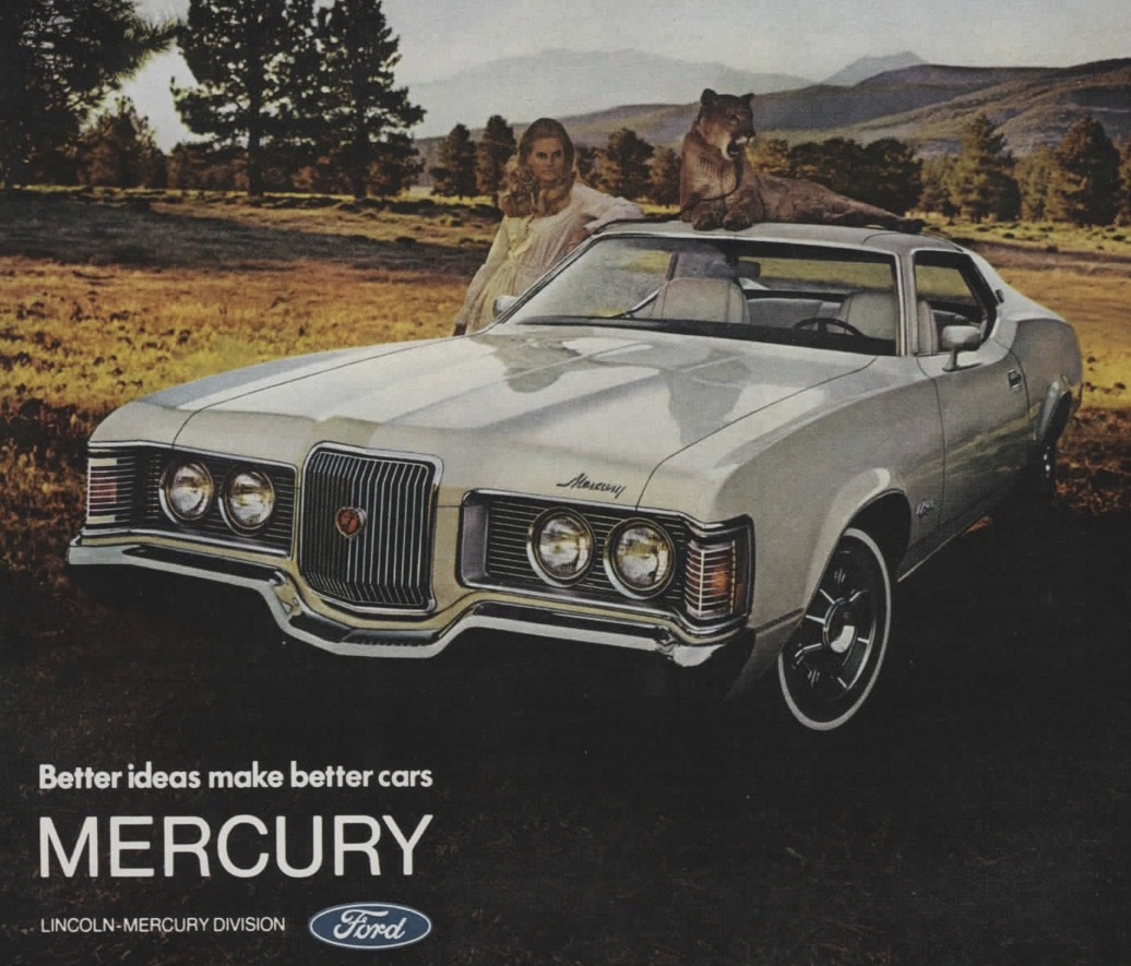 mercury cougar funny add cougar on car