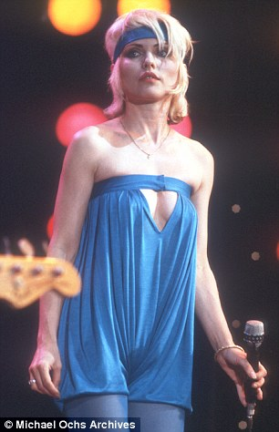 debbie harry blondie blue headband