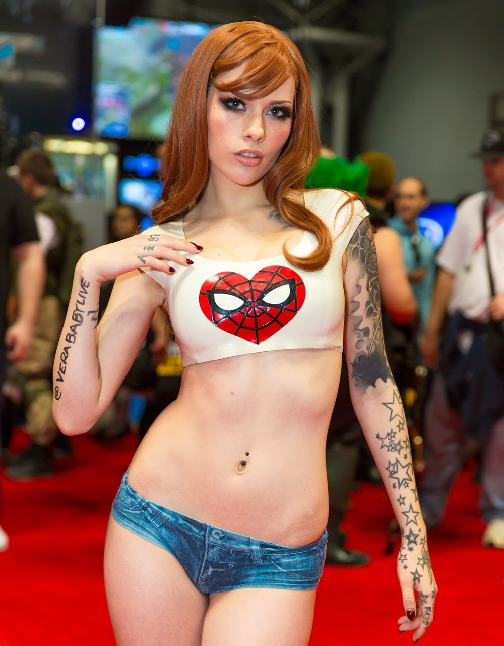 spiderman maryjane cosplay sexy red carpet