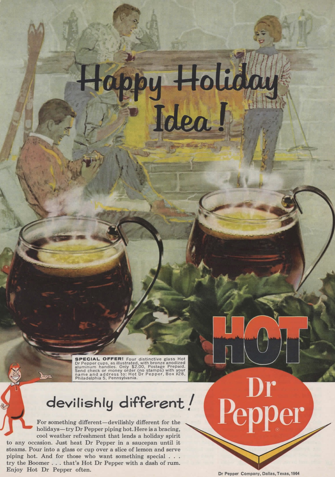 funny holiday magazine ad dr pepper