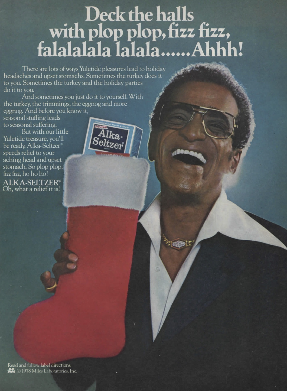 sammy davis jr in funny alka seltzer holiday ad