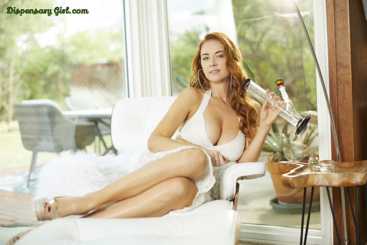 inessa from dispensarygirl.com redhead busty bong