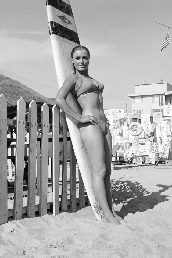 1960s babe black and white photo california beaches nostalgia