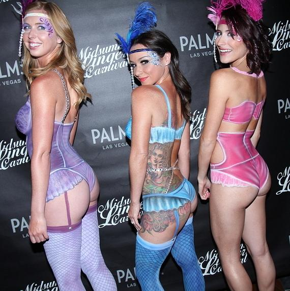 body paint sexy girls palms las vegas hot