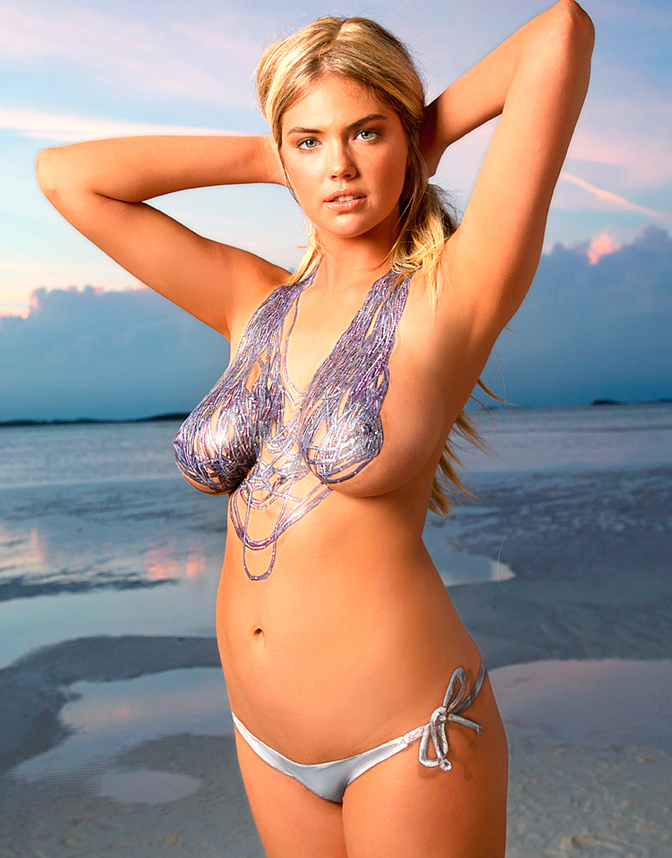 swimsuit babe kate upton with body paint