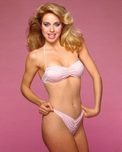 blonde 1980s babe in bikini hot 80s fashion