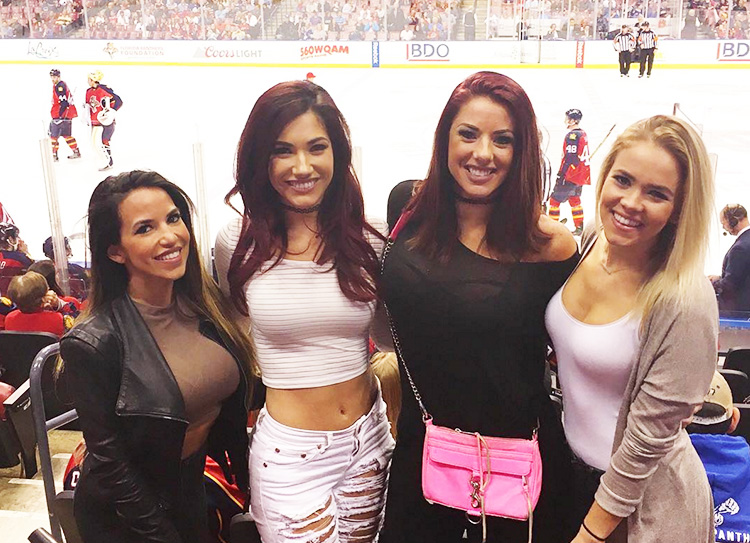 babes at a florida panthers game miami