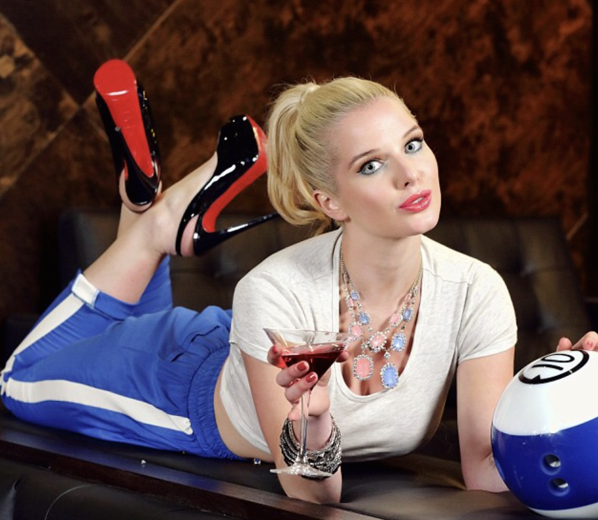 cheers blonde model at the bowling alley