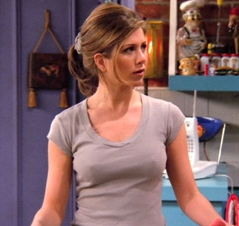 rachel on friends nipples nipple cleavage