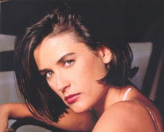 demi moore with short hair 90s