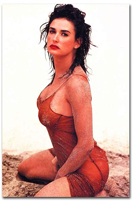 sexy demi moore on the beach babe