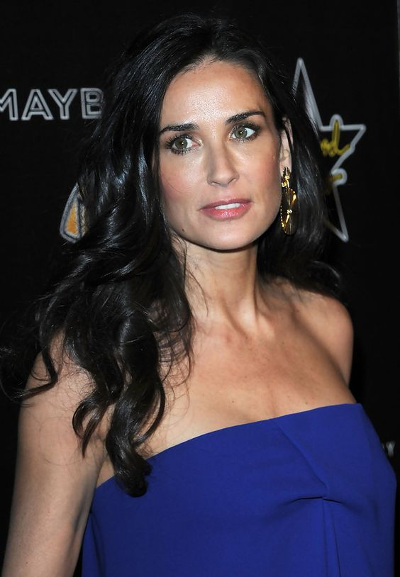 demi moore in blue gorgeous eyes