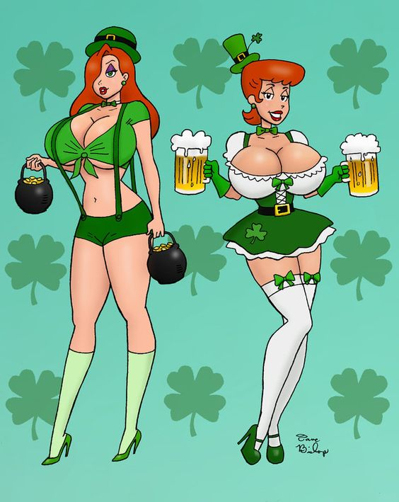 busty st patty's day characters cartoon