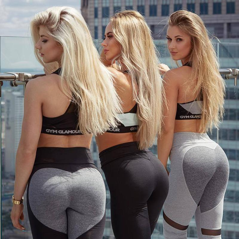 three hotties blonde with spandex pants