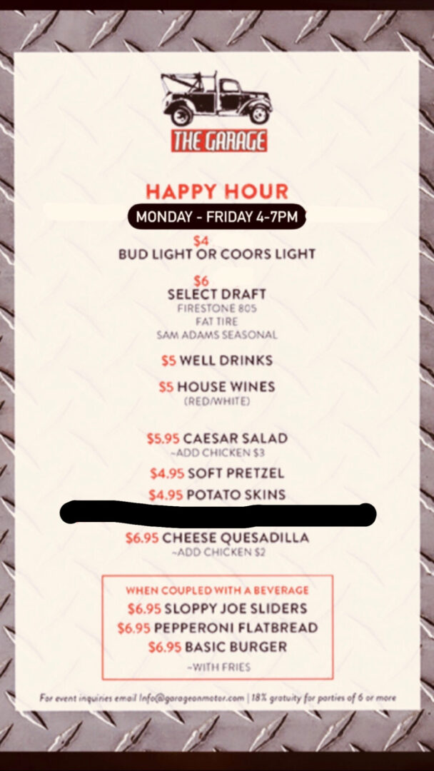 Happy Hour Menu_Revised