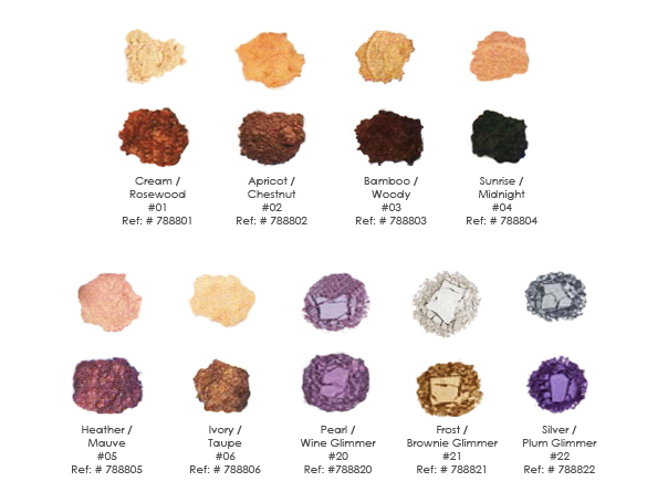 Spa Che eye shadows