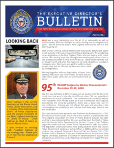 Magazine cover image with rearview mirro and chief of police pictured