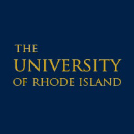 blue square with text university of rhode island