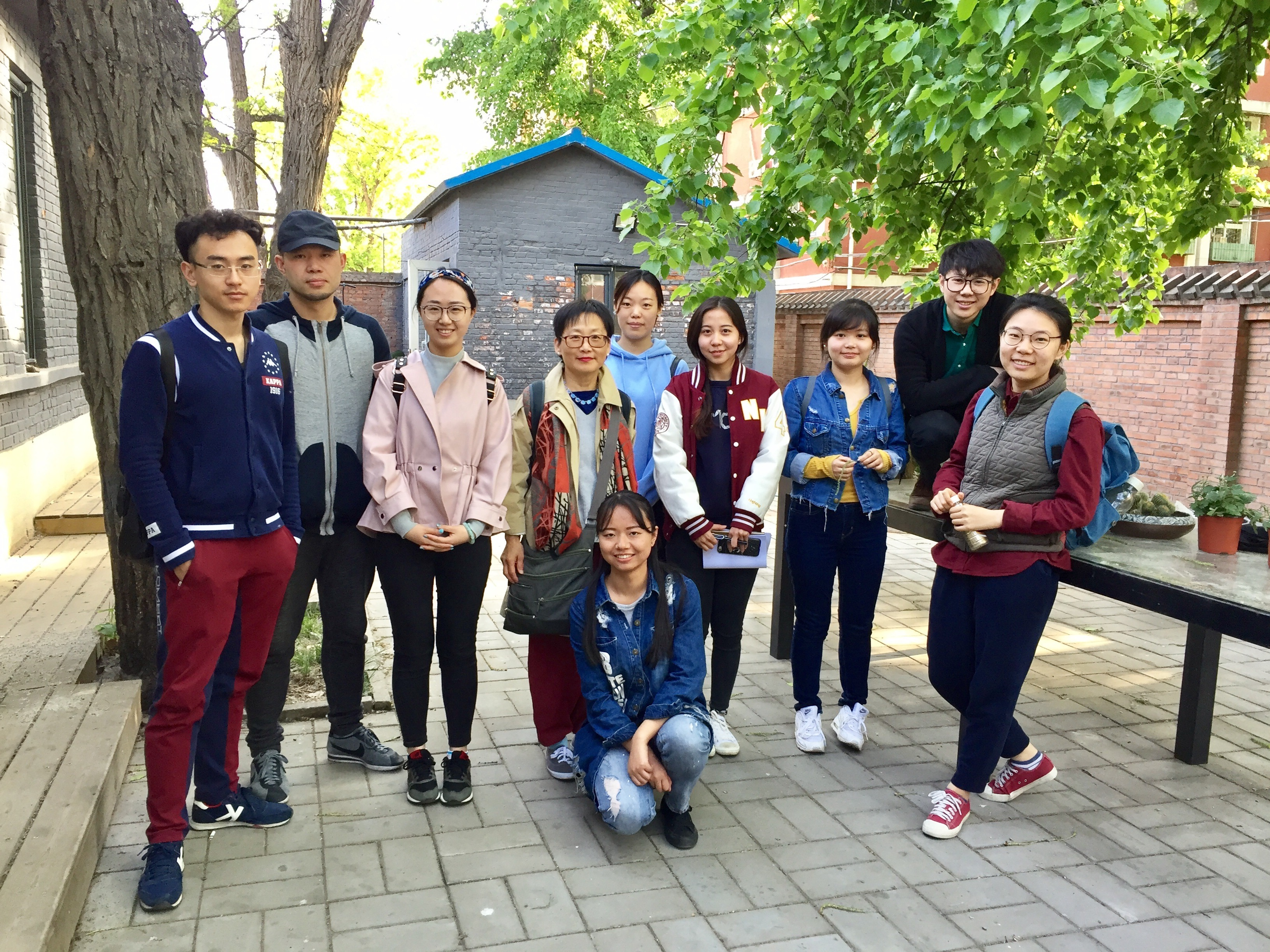 Amy and her Renmin University students