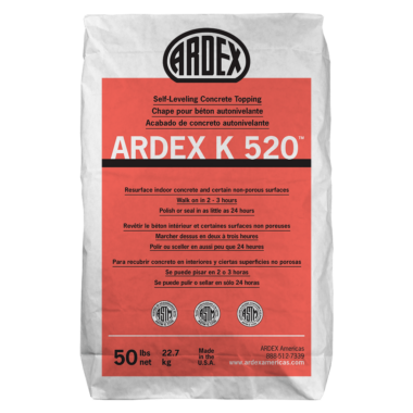 ARDEX K520 SELF LEVELING CONCRETE TOPPING #50