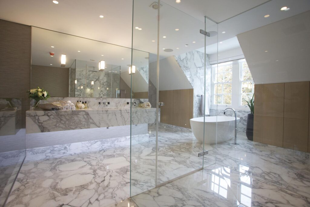 Inspiration Bathroom Lavish Built In Wide Mirrored Wardrobe Bath regarding Modern Master Bathroom Designs - Home Interior Design Ideas