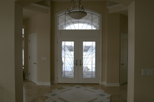 Entry Way Set with French Crackle and German Antique Glass