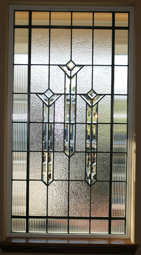 Art Deco Style Panel with Clear Pattern and Bevels